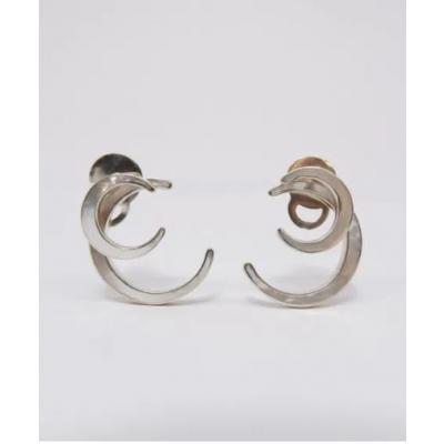 Crescent White Earring
